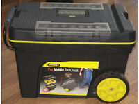 Stanley Pro pull along toolchest or tool box (has wheels and a handle)