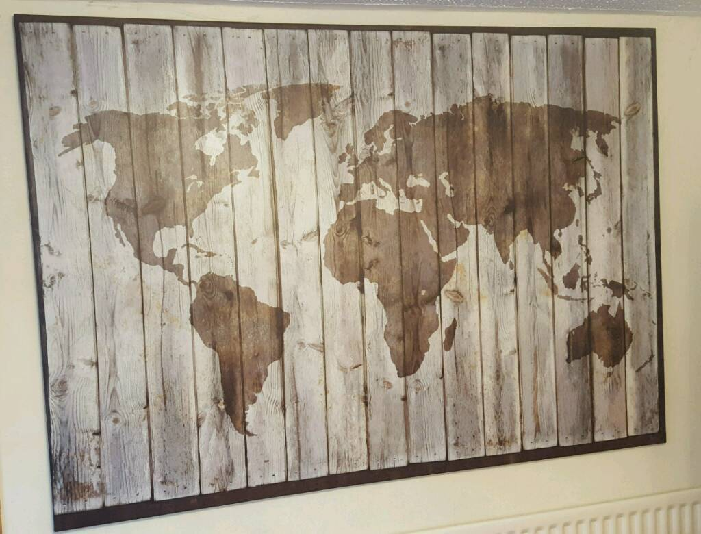 IKEA DRIFTWOOD WORLD MAP PICTURE LARGE CANVAS | in ...