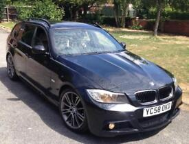2009 BMW 3 SERIES 320D 2.0 M SPORT TOURING DIESEL AUTOMATIC (FULL SERVICE HISTORY) NOT 325D 330D