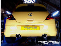 Vauxhall Corsa fitted with Stainless Steel Back Box and Dual Single Tail Pipes from £260!