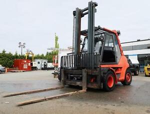 "2004 H80D Linde Forklift, Diesel, 17500 lb lift capacity, 2 stage mast 194"", Air"