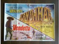 hammer films ' the brigand of kandahar ' original 1960s cinema poster