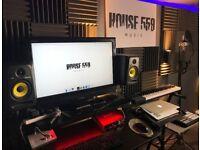 Music production studio for short term rent