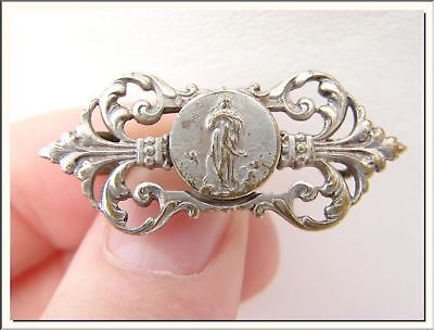 SUPERB ART NOUVEAU IMMACULATE MARY HOLY PIN BROOCH . VISIT MY STORE !!! - Christian Jewelry Store