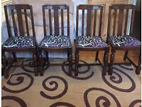Set of Four Art Deco Style Dining Chairs