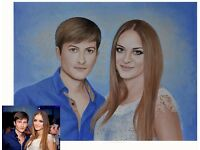 Portraits from photos. Paintings and drawings. The best gift for Christmas, birthday, wedding.