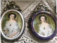 Limoges pair of lady signed