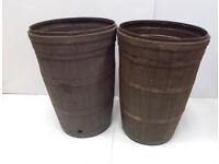 2x Plastic Barrel Affect Tubs