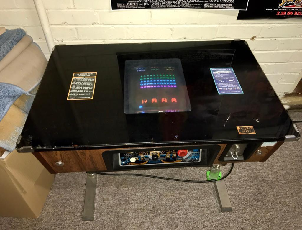 Taito Original E Invaders Part Two Tail Table Top Arcade Machine