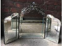 x2 ornate bevelled mirrors