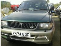 "MITSUBISHI CHALLENGER 4X4 3.0 PETROL MANUAL 16 ""ALLOYS EXCELLENT ENGINE £750"