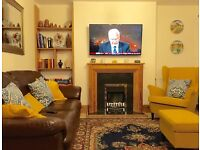 Fully functioning electric fireplace with surround