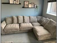 Grey corner sofa - Furniture Village