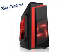ULTRA FAST Quad Core Gaming PC Tower WIFI & 8GB 1TB HDD & Win10 PRO + 2GB Graphics