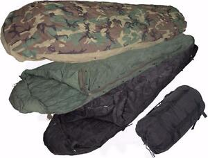 US Military Four Piece Modular Sleeping Bag system Minus 30C - fits up to 6 ft