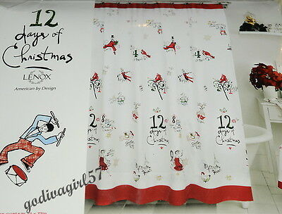 Lenox 12 Days of Christmas * FABRIC SHOWER CURTAIN * American By Design, Unique!](12days Of Halloween)