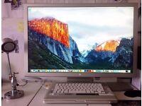 Rare Apple HD Cinema Display 30'' Wide Screen Monitor +DVI adaptor