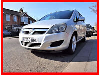 PCO 7 Seater --- 2013 Vauxhall Zafira 1.6 --- PCO till Feb 2018 --- New MOT --- 7 Seater PCO Ready