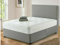 ⚡️⚡️CHEAPEST IN THE UK⚡️⚡️ BRAND NEW SINGLE - DOUBLE DIVAN BED BASE WITH MATTRESS