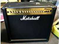 Marshall MG100 DFX Amp 100w with effects built in plus footswitch in Ex condition