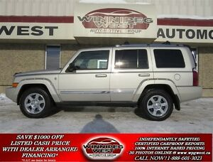 2007 Jeep Commander LIMITED 4X4, LEATHER, DVD, TRI-SUNROOF, 7 PA