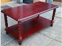 wooden coffee table. 92cm length x 46cm width x 43cm height.