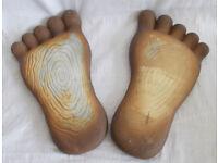 Foot shaped garden ornaments