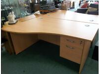 Office Desk For Sale 2 Available £65 Each Great Condition - Including The Keys To Lock The Drawers