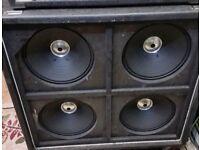 Vintage (70s) HH 412BL Speaker Cab – 4 X 12 – 200 Watts @ 8 OHMS