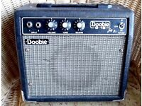 RARE OLD JAPANESE MADE DOOBIE G-15 MINI AMP WITH REVERB. MAINS OR BATTERY.