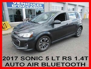 2017 CHEVROLET SONIC 5 LT RS,AUTO,AIR,1.4T,TOIT,BLUETOOTH