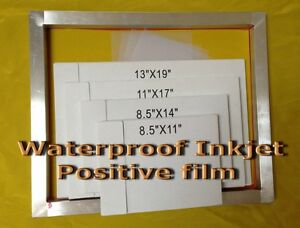 Waterproof Inkjet Screen Printing Film 13