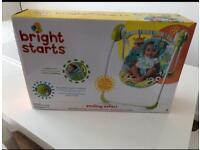 Bright Starts Smiling Safari Baby Swing