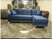 FLAT PACKED SULTAN CORNER SOFA BED IN STOCK