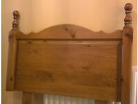 BED HEADBOARD - Solid Pine - Single Bed with legs