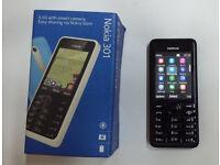 *Unlocked* Classic Nokia Asha 301 Camera Mobile Phone *Boxed & Good Condition*