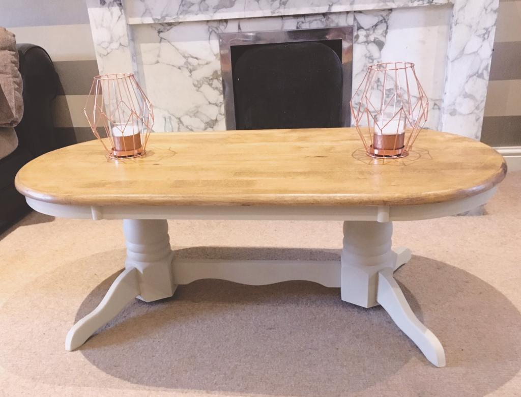 Awesome Summer Oak And Cream Coffee Table