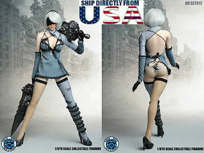 1/6 Nier Automata YoRHa No.2 Type B Head Sculpt Phicen Figure Set SUPERDUCK USA