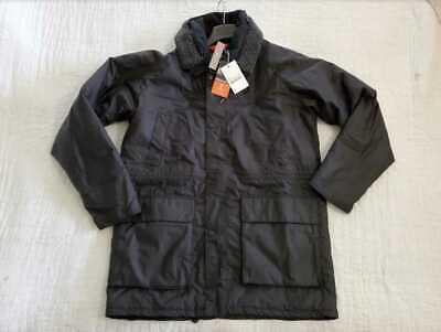 NEW MEN'S XL J CREW X BARBOUR FENTON WAX BLACK JACKET COAT