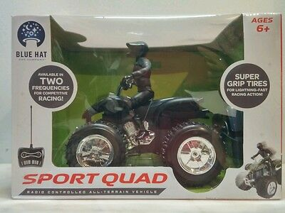 Radio Control All Terrain Vehicle Sport Quad Black by Blue Hat 27 MHz New in box