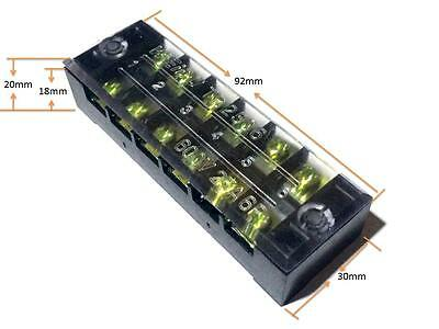 1 Pcs 600v 25a Double Row 6 Position Terminal Barrier Blocks Connector Tb-2506