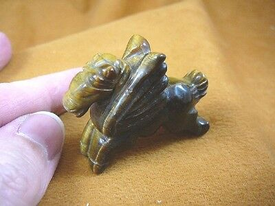 (Y-PEG-RU-565) Tiger's eye PEGASUS flying gemstone winged horse Figurine carving