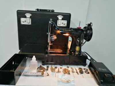 Singer 222 K Featherweight Sewing Machine with Accessories for sale  Shipping to Nigeria