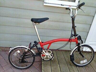 brompton folding bike 3 speed