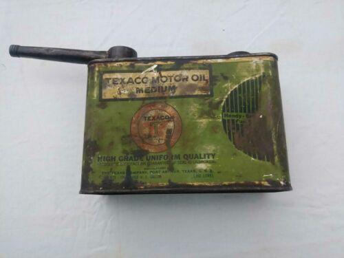 Texaco 1/2gal Handy Grip Oil Can Original