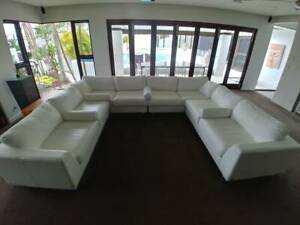 Leather Sofa - 12 seats - as new!