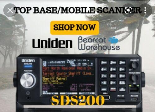 Uniden SDS200 Digital Police Scanner True I/Q