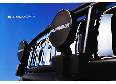 2003 original Hummer H2 genuine accesoires Brochure Catalogue