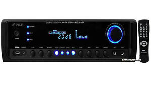 NEW-Pyle-PT380AU-200W-4-Channel-Home-Stereo-Receiver-USB-AUX-iPod-MP3-Remote