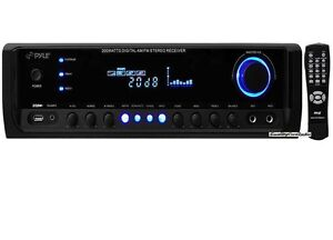 NEW-Pyle-PT380AU-200W-4-Channel-Home-Stereo-Receiver-USB-AUX-iPod-MP3-amp-Remote